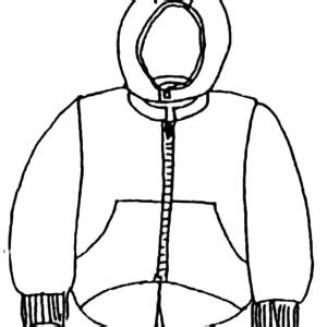 coloring page of a coat clipart best
