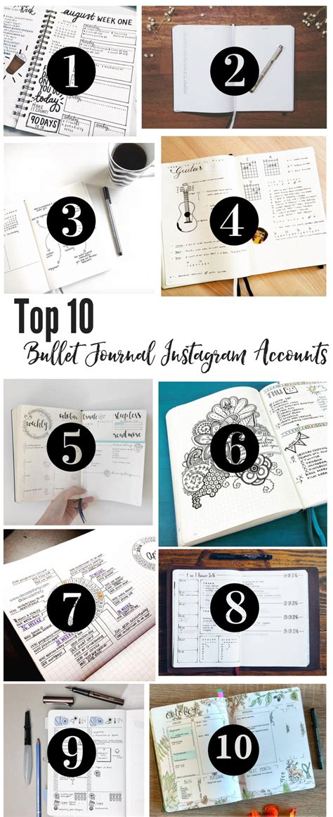 best instagram layout ideas top 10 instagram accounts for bullet journal ideas