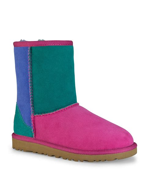 Ugg Patchwork Boots - ugg 174 australia classic patchwork boots kid