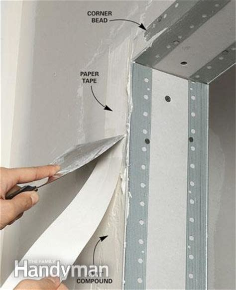 finishing drywall corner bead drywall taping tips the family handyman
