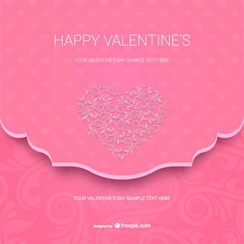 valentines day card square template happy s day card template vector 123freevectors