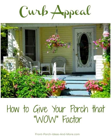Curb appeal porch ideas to make you happy