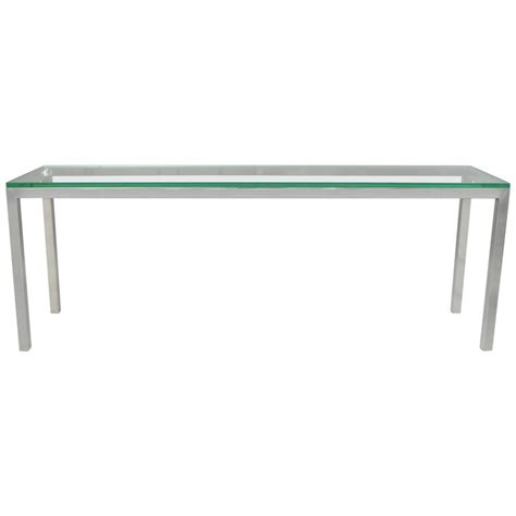 chrome glass console vintage chrome and glass console sofa hall long
