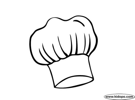coloring page of a chef hat kindergarten printable hat templates chefs hat coloring