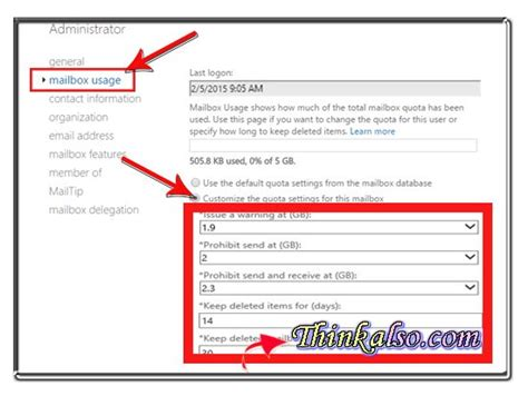 Office 365 Outlook Quota Tricks 5 Steps To Get Mailbox Size And Increase In