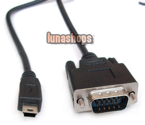 usd 7 00 mini usb 5 pin to vga d sub 15 pins