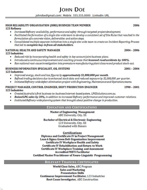 Consultant Resume Accomplishments Executive Project Consultant Resume Exle Business Manager