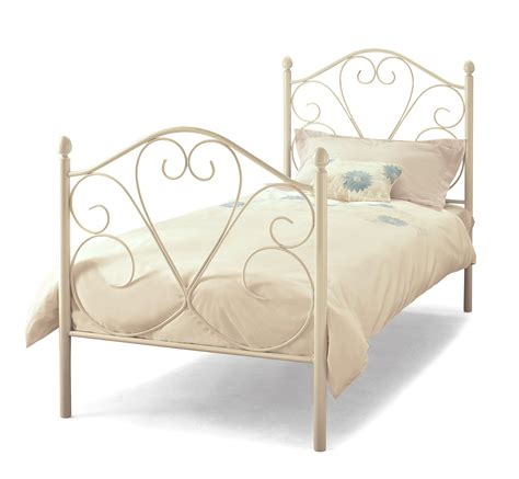 White Metal Single Bed Frame White Metal Bed Frame Single Day Beds Sleepover Beds Childrens Beds Bedroom Furniture
