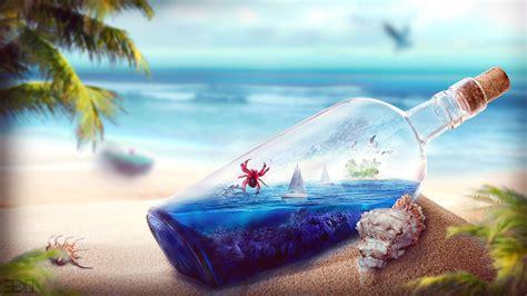 wallpaper free pics ocean in a bottle hd wallpaper wallpaperfx