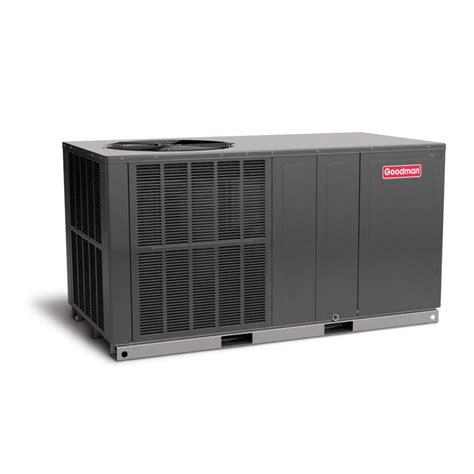 ton goodman  seer   air conditioner package unit