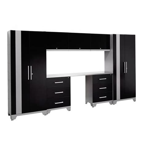 newage products performance series 8-piece cabinetry set black