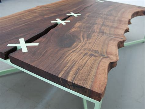 stitch wood top dining table stitch table by uhuru design decoholic