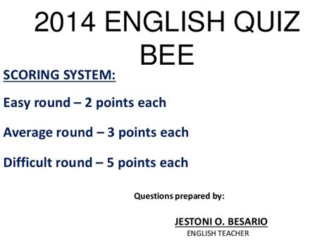 quiz questions year 2014 2014 english quiz bee best
