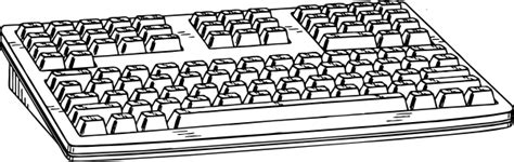 keyboard coloring pages computer keyboard clip art at clker com vector clip art