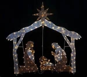 lighted sets plastic outdoor lighted nativity sets outdoorlightingss