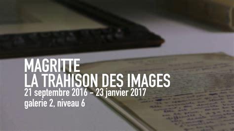 la trahison de la 2264070919 ren 233 magritte la trahison des images exposition centre pompidou youtube