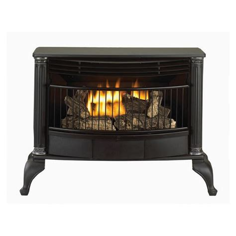shop style selections 25000 btu black vent free gas stove
