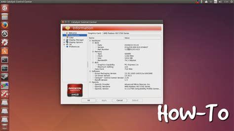 installing ubuntu server gui installing amd catalyst on ubuntu 14 04 gui mode youtube