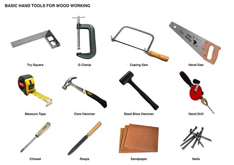 woodworking tool list woodwork tools pdf plans