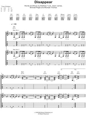 disappear bullet for my bullet for my quot disappear quot guitar tab