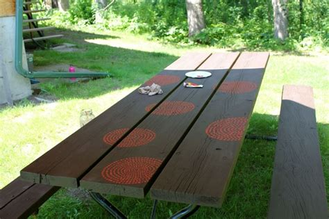 cool painted picnic tables 1000 ideas about picnic table paint on picnic