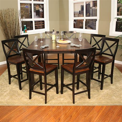 counter height dining set with butterfly leaf larue 9 butterfly leaf counter height dining set contemporary dining sets by