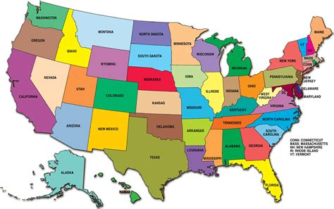 complete map of the united states usa guide to america