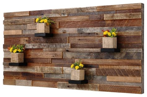 reclaimed barn wood wall art with shelves 4 x2 rustic
