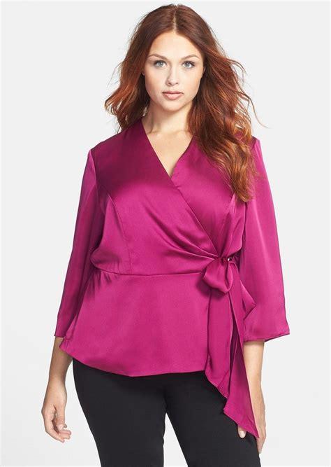 Plus Size Blouse alex evenings alex evenings side tie wrap blouse plus size casual shirts shop it to me