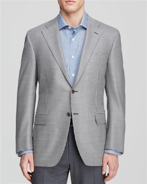White Shirt Layer Houndstooth canali houndstooth sport coat classic fit in gray for