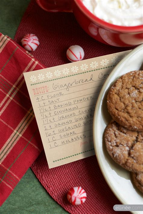 gingerbread recipe card template 25 free printable recipe cards home cooking memories