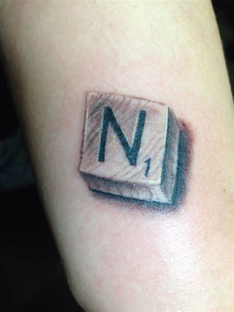 tile tattoos realistic scrabble tile t bones tattoos skinscapes ny
