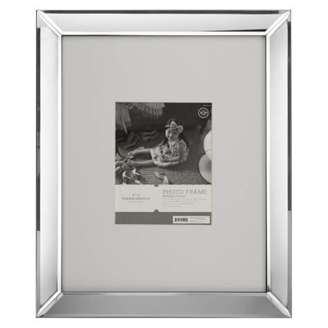 mirrored picture frames mirrored 8 quot x10 quot frame threshold target