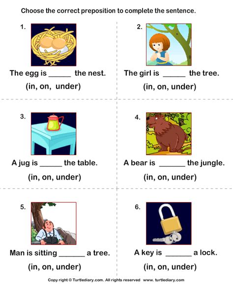 Prepositions Worksheet by Printable Preposition Worksheets Quotes