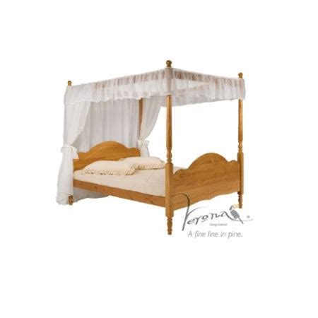 Four Poster Single Bed Frame Verona Design Veneza Single 4 Poster Bed Frame In Antique Pine Furniture123