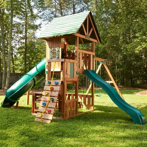 swing set with rock climbing wall backyard playground and swing sets ideas backyard play