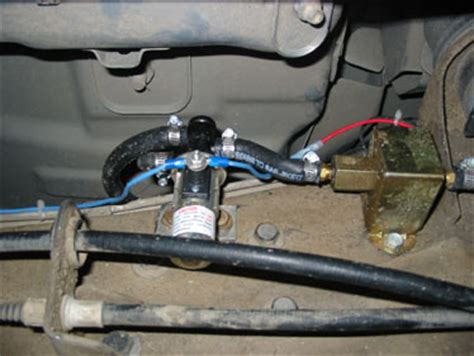 installing electric fuel pump on boat auxilary fuel tank
