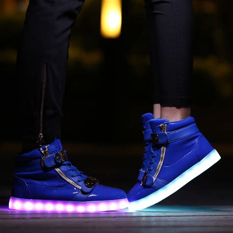 led light up shoes for adults adults led light up shoes high tops royal blue with gold