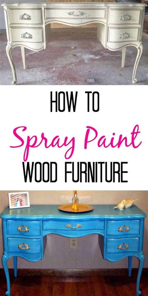 how to spray paint wooden furniture finding silver linings
