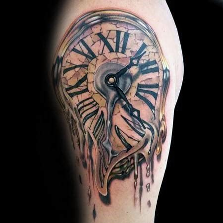 melting clock tattoo designs 40 melting clock designs for salvador dali