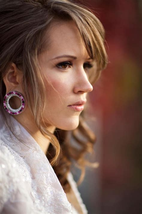female ear lobes beautiful woman with stretched ears piercing art