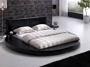 About vilenno king size modern style round platform bed black