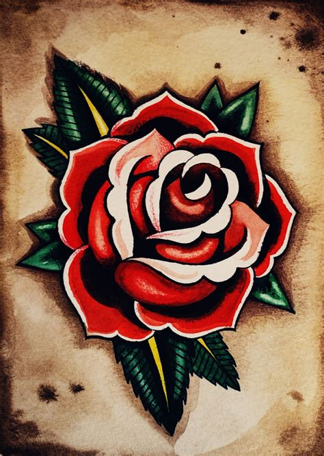 rose tattoo old school 30 cool school tattoos designs ideas
