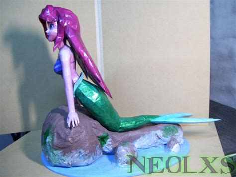Mermaid Papercraft - ariel mermaid papercraft 4 by neolxs on deviantart
