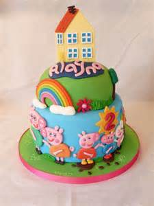 two tiered peppa pig cake cake by grace s party cakes cakesdecor