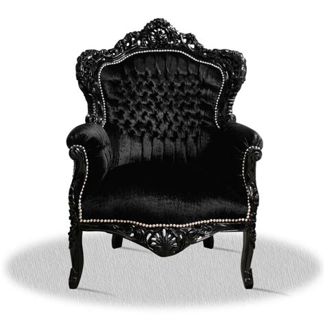 barock deluxe m 246 bel barock sessel schwarz stoff - Barock Sessel