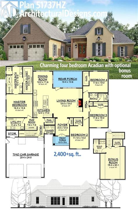 best house plans images on floor plan acadian