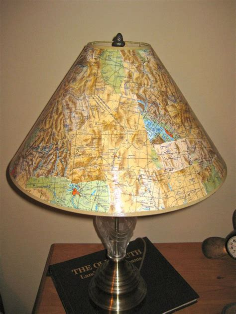 Decoupage Light Shade - decoupage lshade with flight maps decoupage ideas
