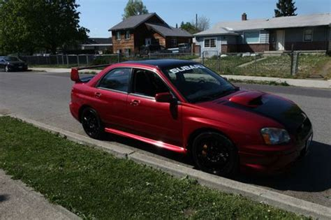 subaru wrx custom paint buy used 2004 subaru impreza wrx sti sedan 4 door 2 5l red