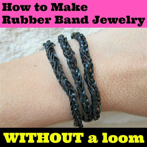 how to make loom bands with rubber band crafts without loom